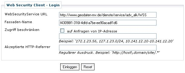Screenshot vom Gateway